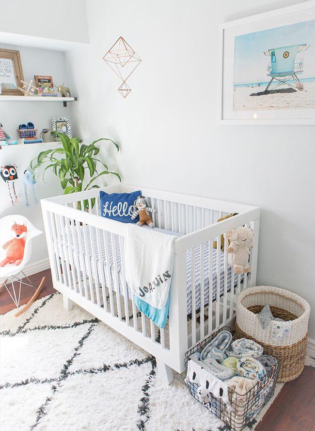 Cool Blue Modern Nursery | Kinderzimmer, Baby kinderzimmer und ...