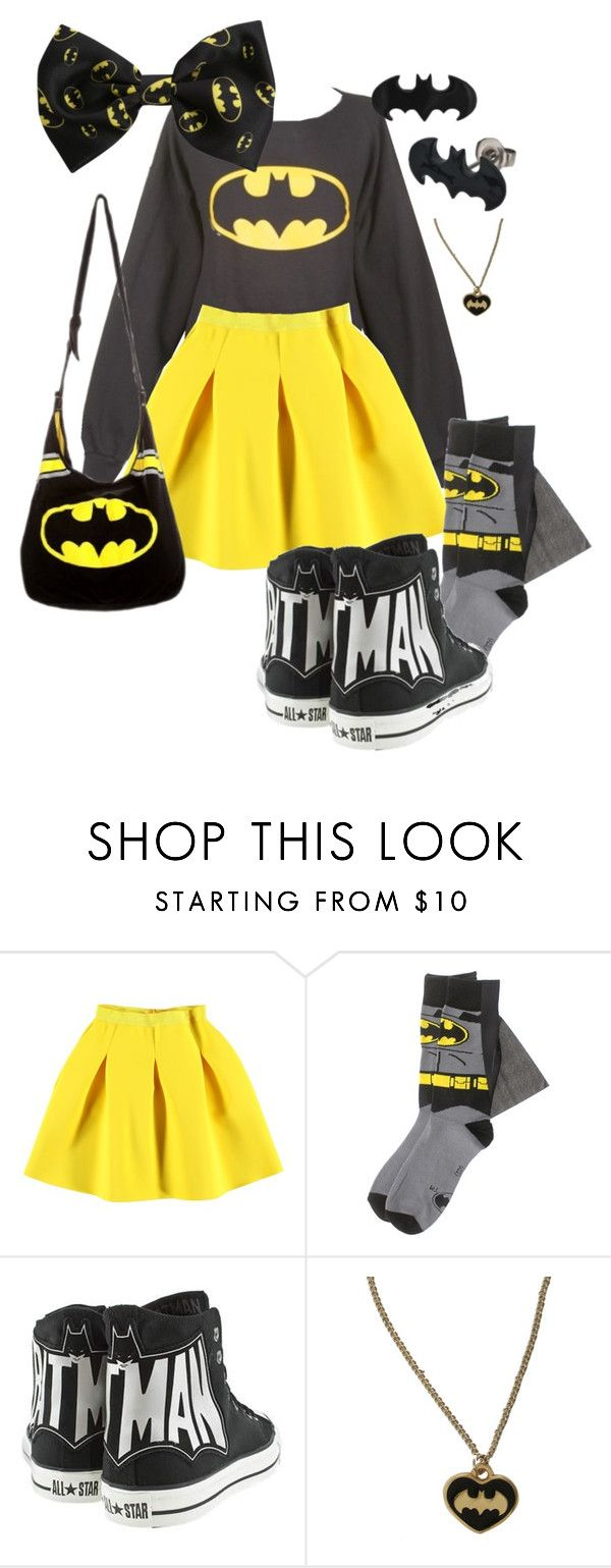 """Batman ♥♥♥"" by nananananabatman ❤ liked on Polyvore featuring Converse"