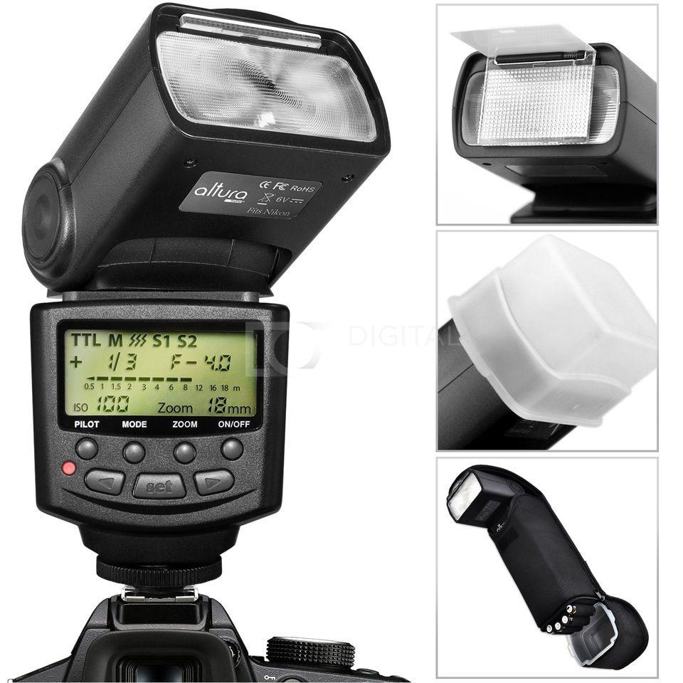 Altura Photo i-TTL Auto Focus Flash for Nikon D5500 D5300 D5200 D3300 D3200 DSLR