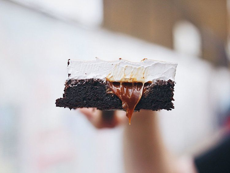 Salted Caramel Cocoa Brownies with Burnt Meringue Topping — The Boy Who Bakes