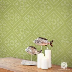 Anisa Embroidery Damask Wall Stencil