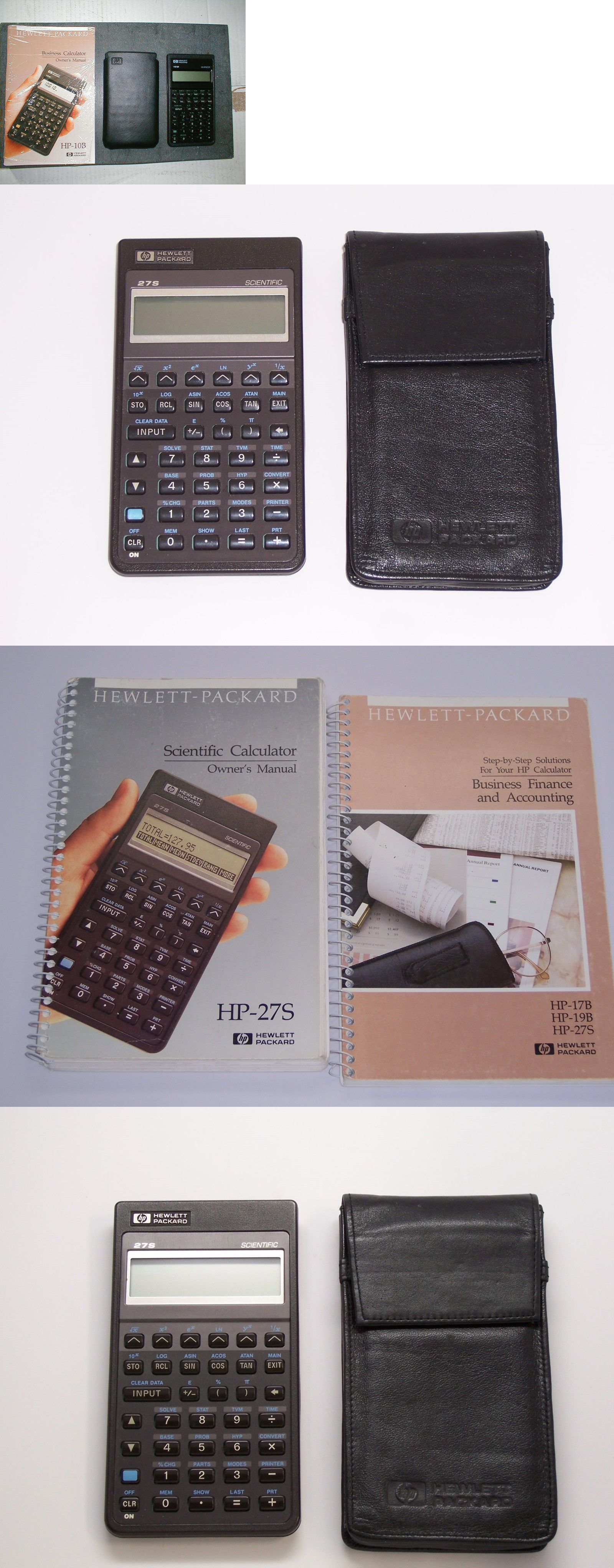 Vintage Calculators: Hp-27S Scientific Calculator, Case And Manuals  (Scientific And Finance