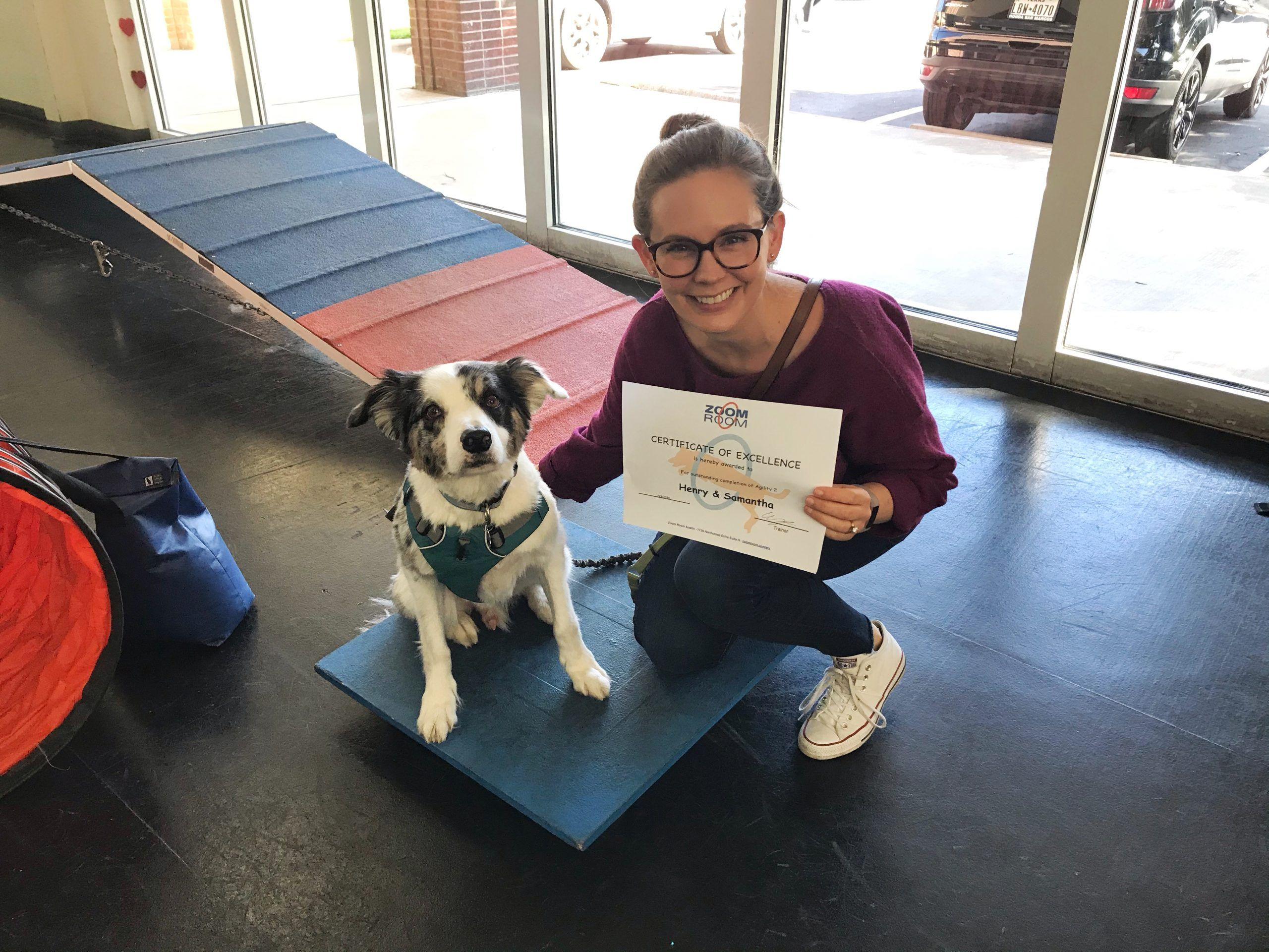 Congratulations To Henry And His Mom For Graduating From Agility 2