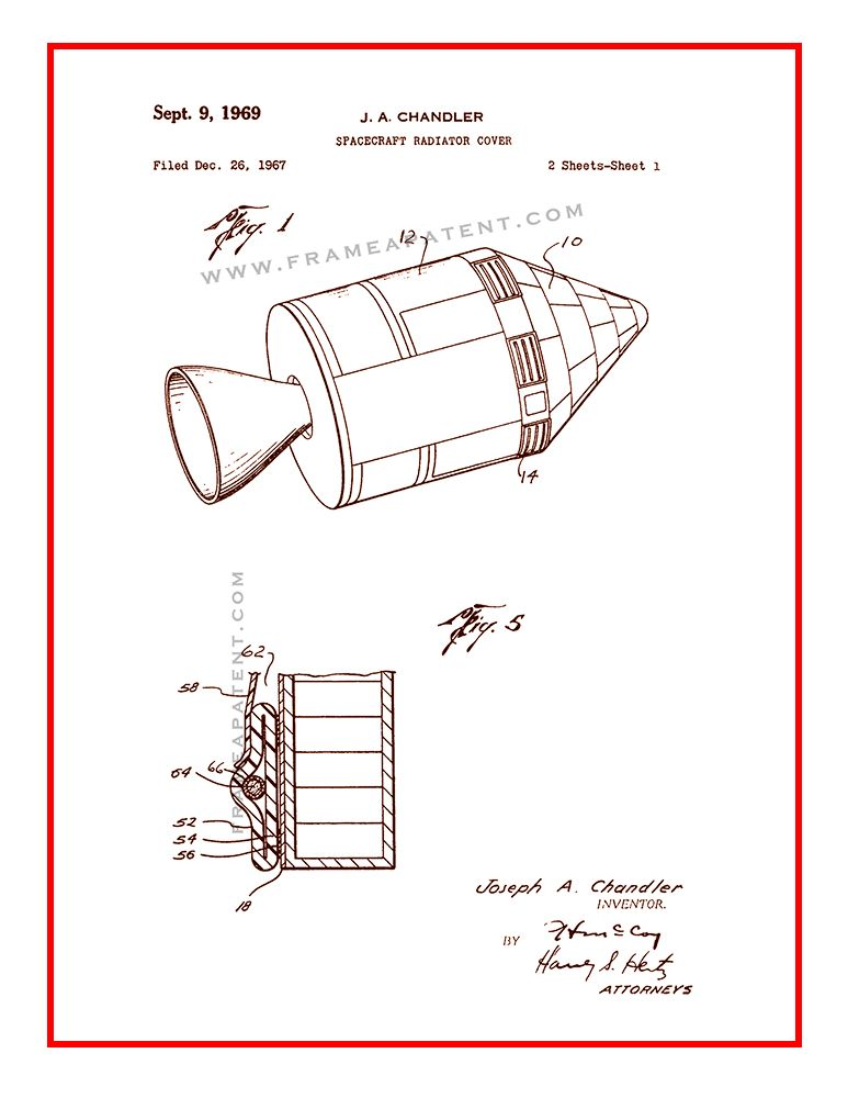 Image by Frame a Patent on Space Patent Prints Patent prints