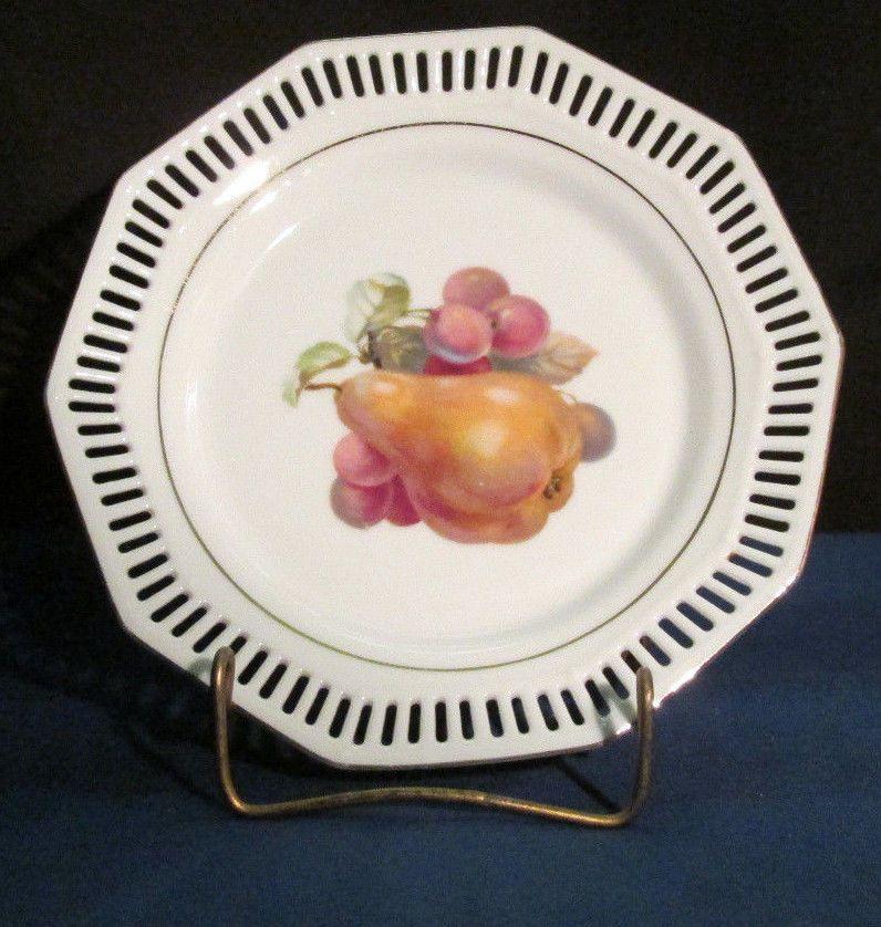 German Art Pottery | eBay. Decorative PlatesFruit ... & SCHWARZENHAMMER BAVARIA WEST GERMANY RETICULATED PIERCED DECORATIVE ...