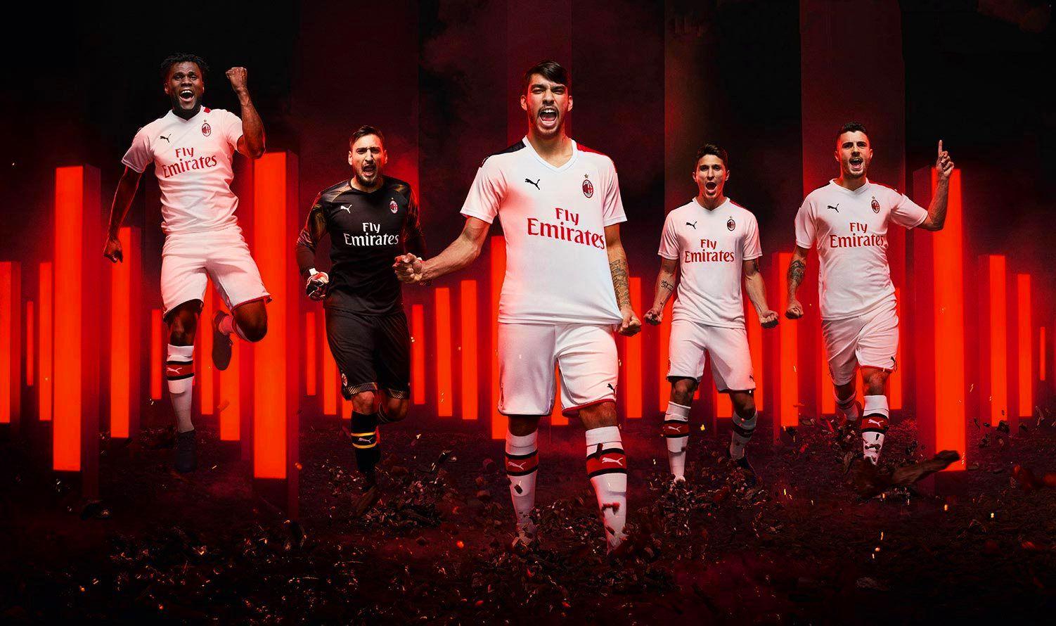 AC Milan 19-20 Away White Soccer Jerseys Shirt Kit by PUMA ...