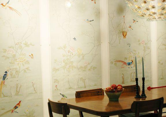 wallpaper in acrylic frames. love