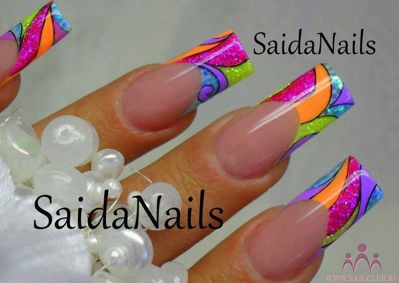 Colorful nails for summer.. but shorter