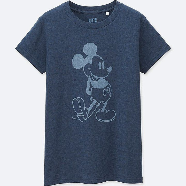 Women Mickey Blue Short Sleeve Graphic T Shirt Graphic Tee Design Blue Shorts Printed Tees