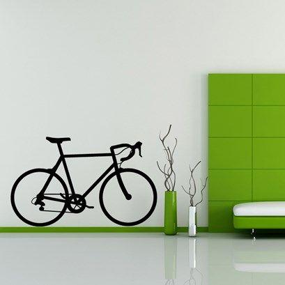 road bike wall sticker | cycling = freedom = : ) | bike, cycling