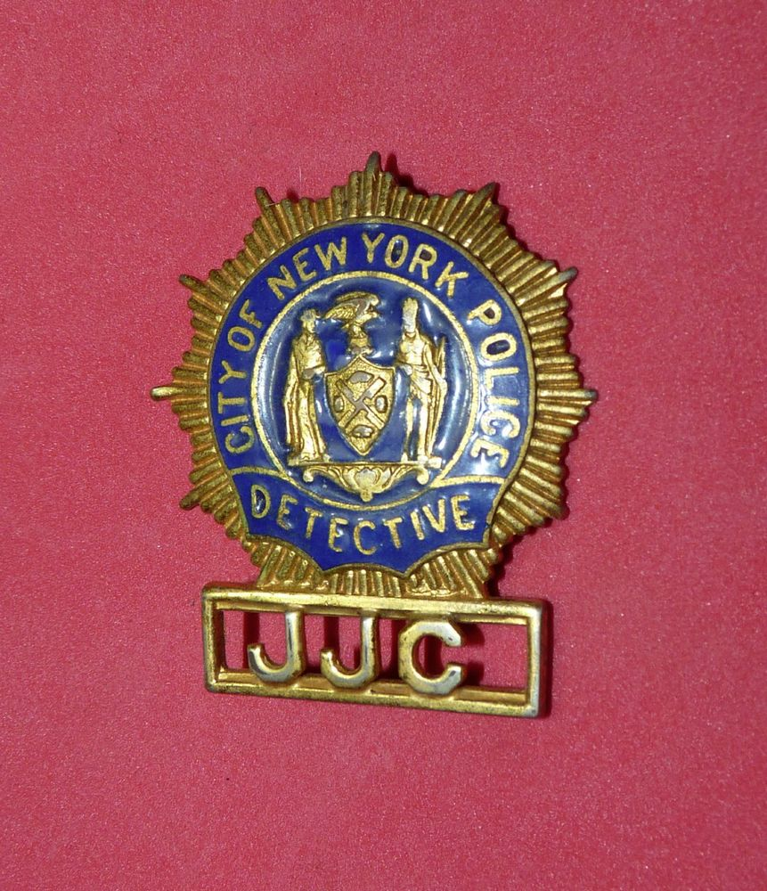 New York City Police Vintage Mini Badge Pin Nypd Nyc Obsolete Jjc Fire Badge Badge Nypd