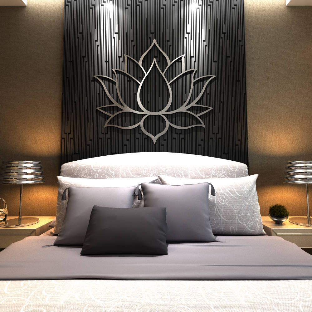Lotus Flower Wall Art xl lotus flower metal wall art, contemporary sculpture, extra