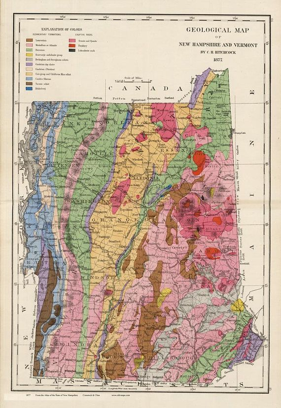 New Hampshire And Vermont Geology In 1877