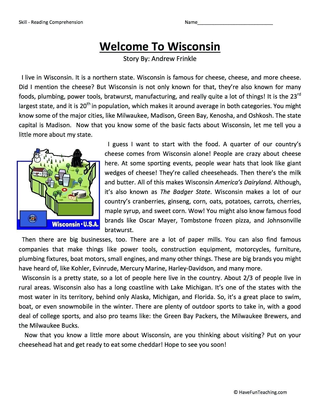 5 Reading Comprehension Worksheets 4th Grade Reading