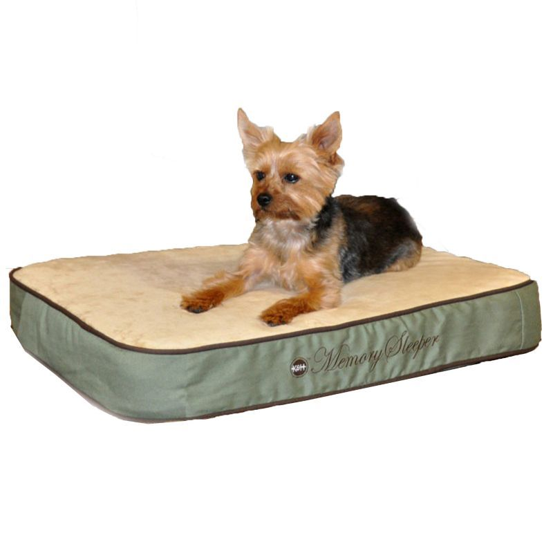 K And H Dog Bed Round Green Ortho Bolster Medium 30in Paw Print Easy Wash Care Pet Dog Dogbed Petlife Lovepets Pet Dog Bed Dog Pet Beds Covered Dog Bed