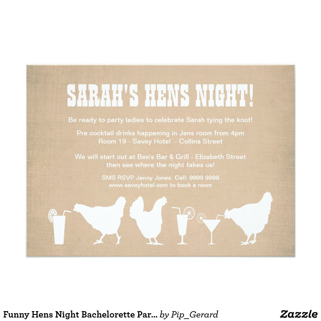 Funny Hens Night Bachelorette Party Invite | Bachelorette Party ...