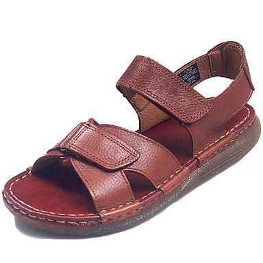 Men s Shoes Nappa Leather Spring Summer Sandals Upstream Shoes for Black  Coffee   Black coffee, Summer sandals and Spring summer ef1d546ffc5