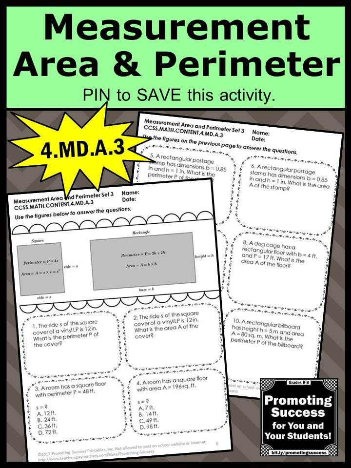 Area And Perimeter Word Problems 4th Grade Worksheets 4a3
