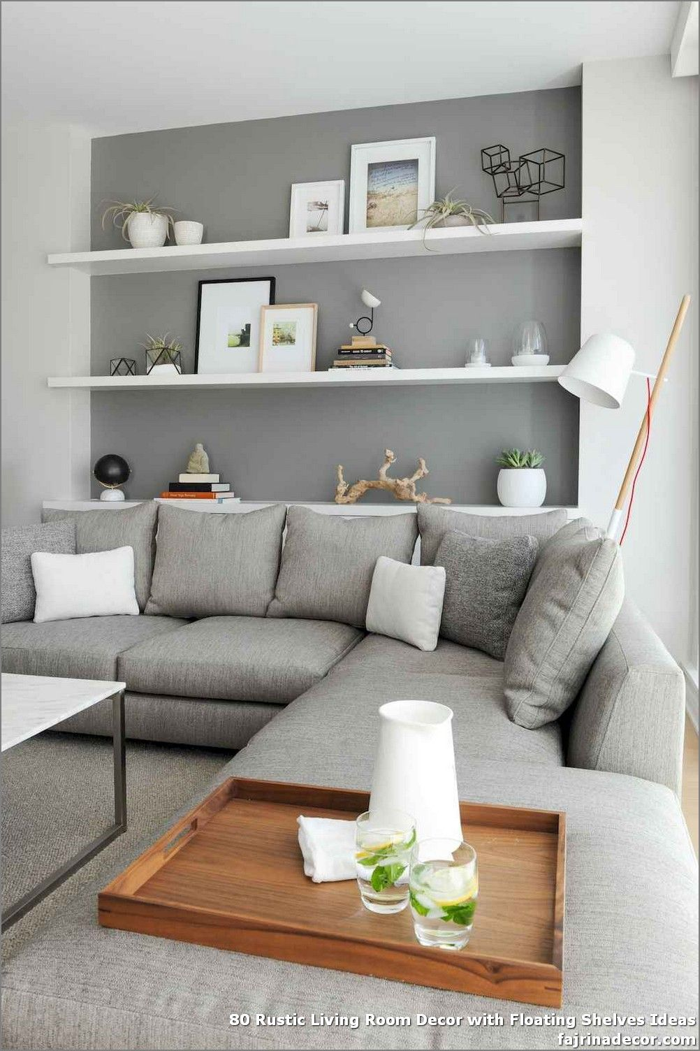 80 Rustic Living Room Decor With Floating Shelves Ideas In 2020 Living Room Shelves Living Room Decor Rustic Floating Shelves Living Room #rustic #living #room #shelf