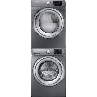 Samsung Wf42h5200ap Front Load Washer Dv42h5200gp Gas Dryer W Stacking Kit