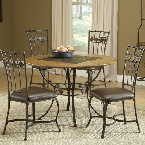 Found It At Joss Main 5 Piece Mischa Dining Set Dining Table Top Primitive Dining Rooms Round Dining Set
