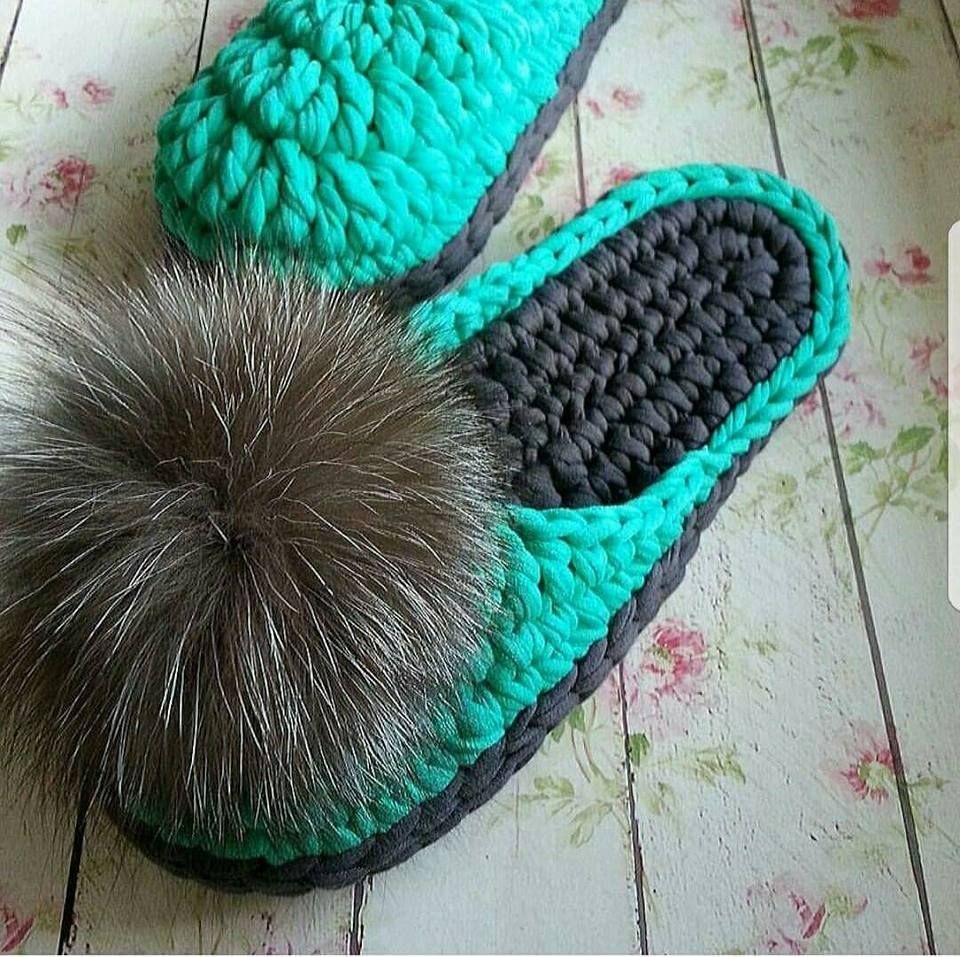8 Zapatillas super cuquis de crochet en trapillo… ¡Mira qué bonitas ...