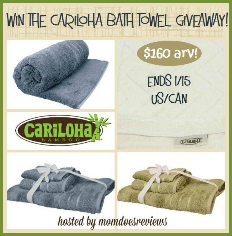 Win Two Cariloha Bamboo Bath Towel Sets And A Bamboo Bath Mat