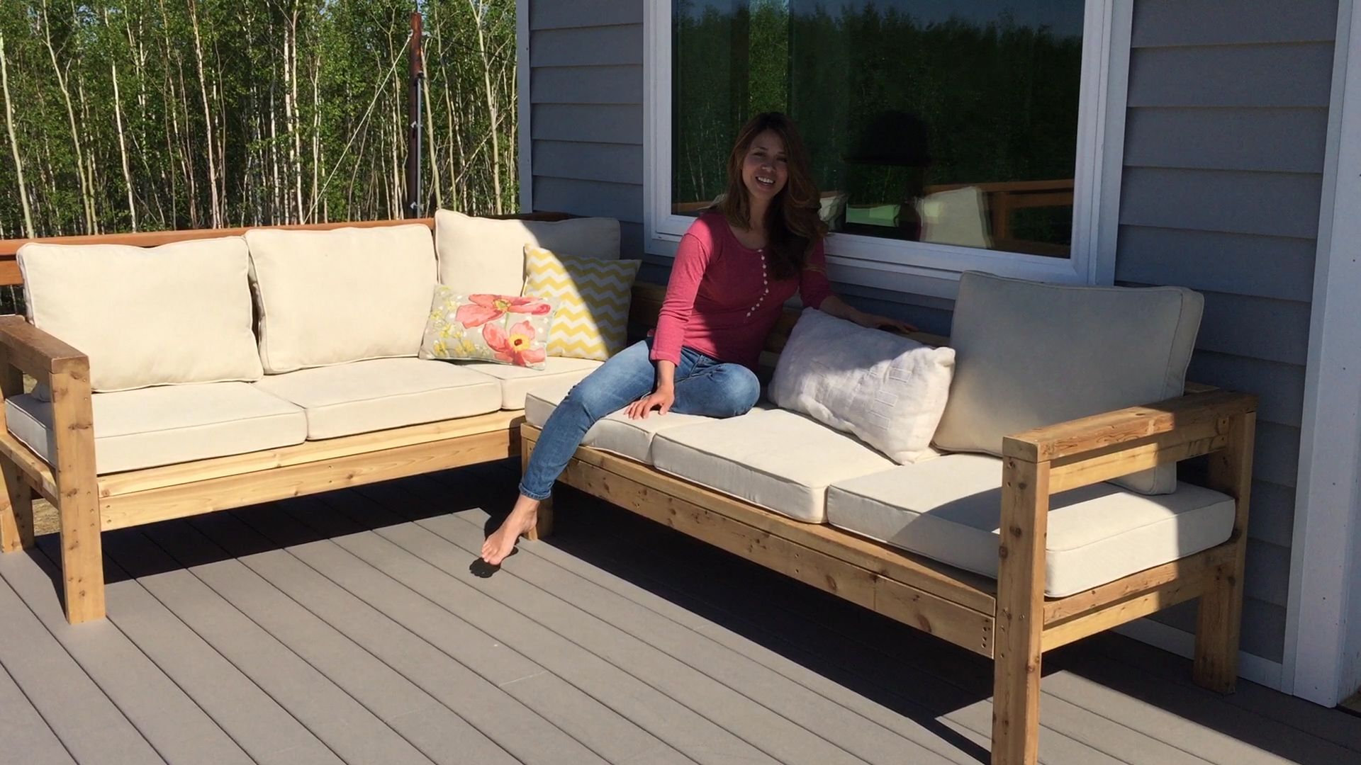 One Arm 2x4 Outdoor Sofa Sectional Piece Diy Outdoor Furniture