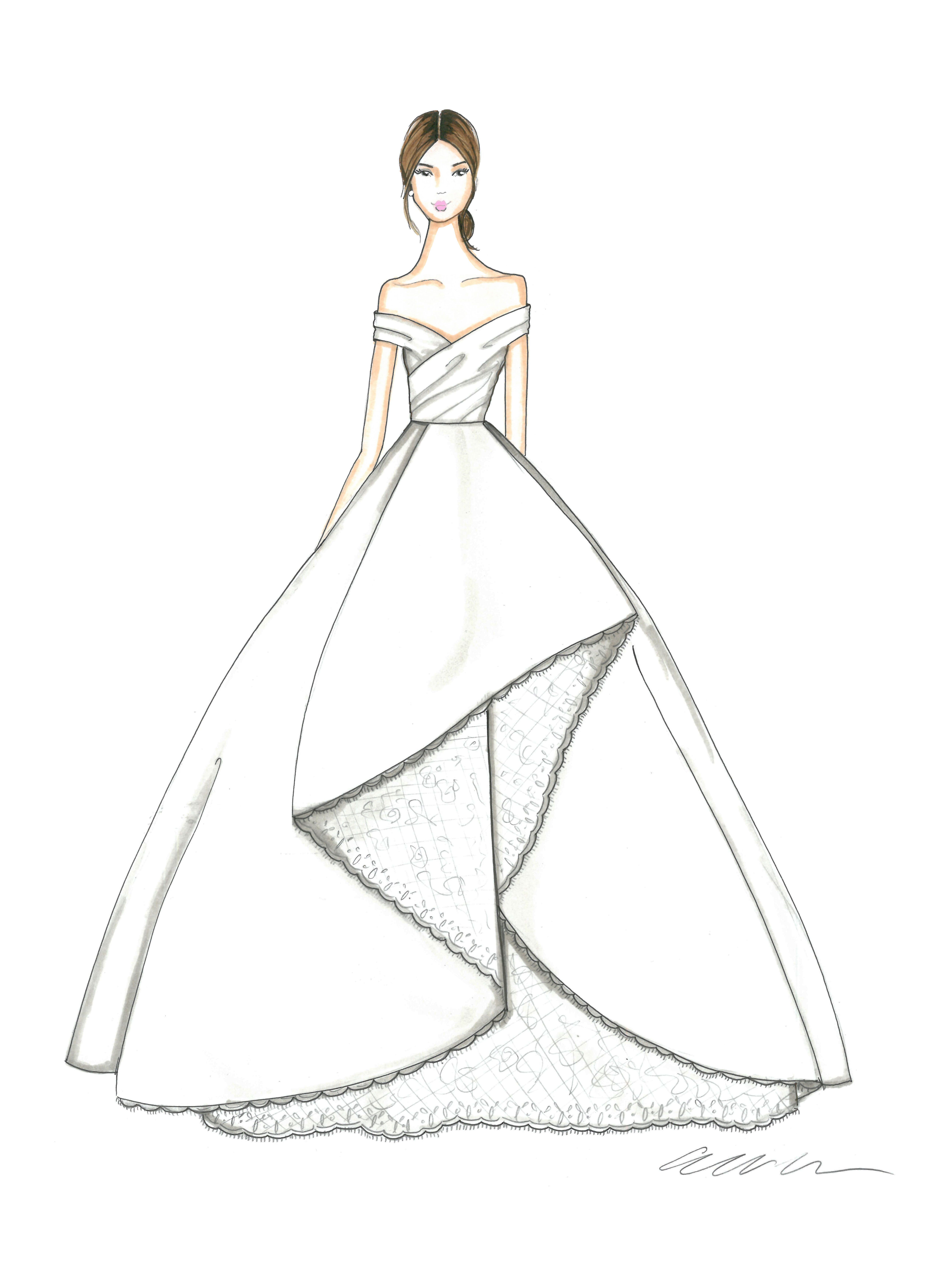 Exclusive Get A First Look At The Fall 2018 Bridal Collections Dress Design Drawing Fashion Illustration Sketches Dresses Fashion Drawing Dresses