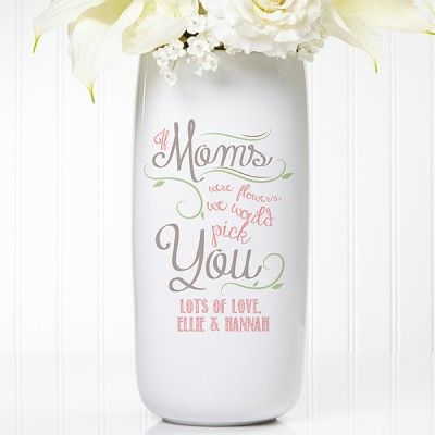 Loving Words To Her Personalized Vase Choice Of Quotes Mothers
