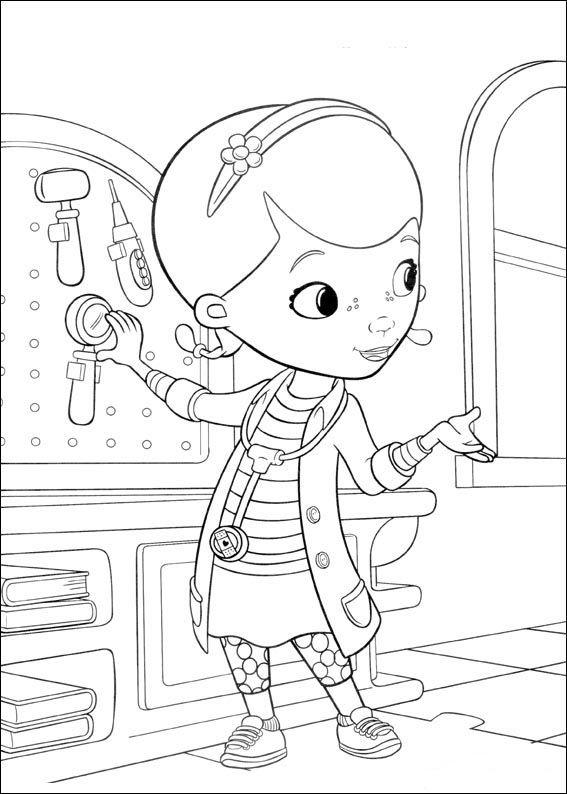 Målarbilder | Färgläggningsbilder för barn Doc McStuffins 5 ...