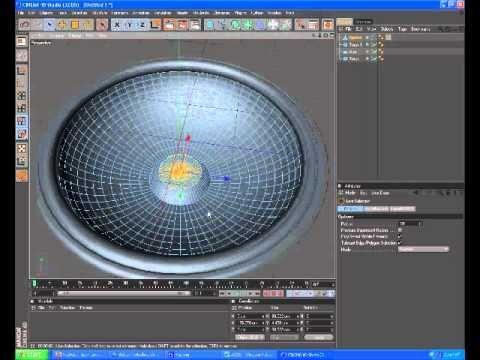 Cinema 4d tutorial modeling speaker for disco paper