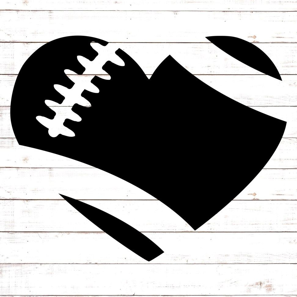 Football Heart Svg Free Files Free Svg Vinyl Decal Projects