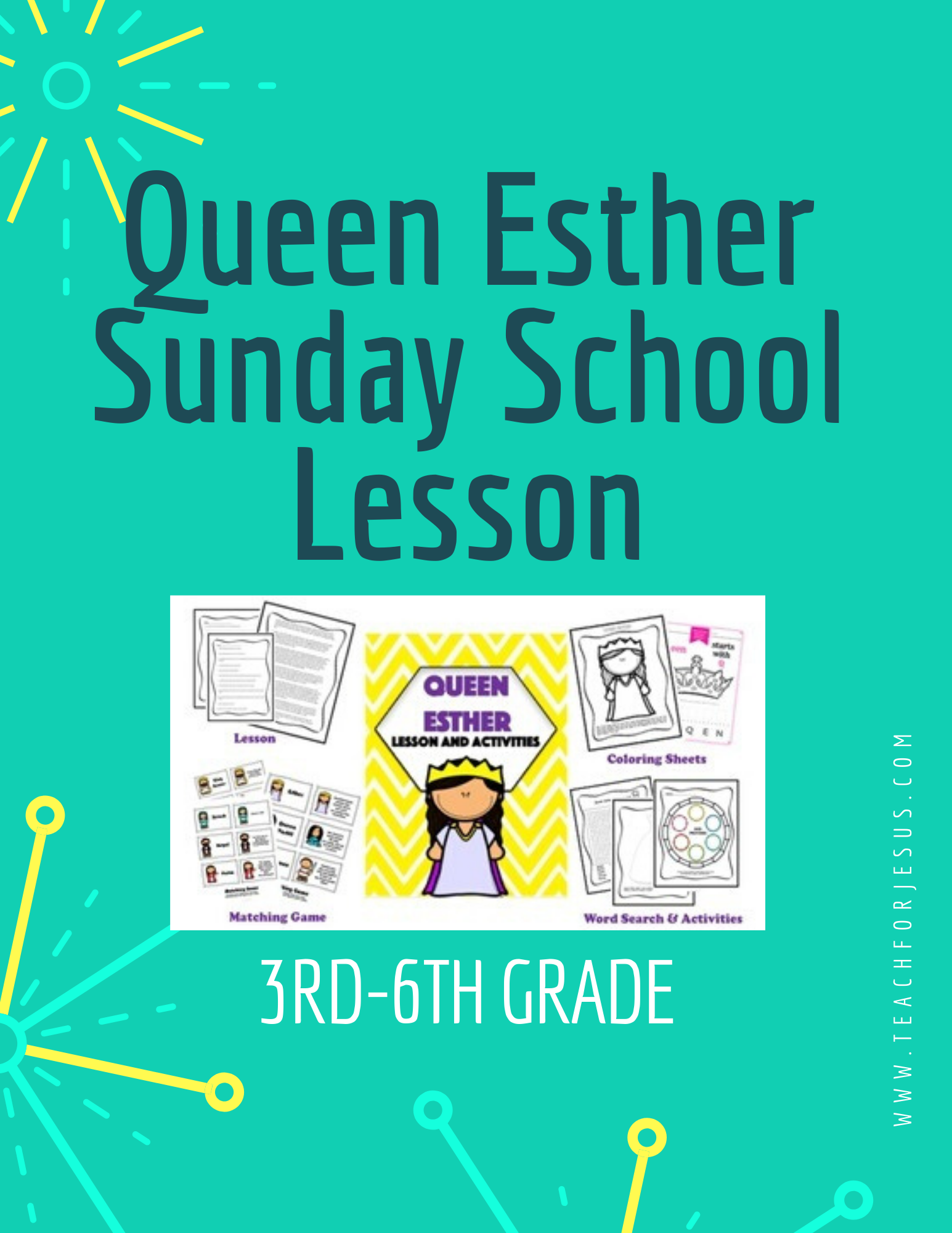 Queen Esther   Sunday School Lesson and Activities in 2020 ...