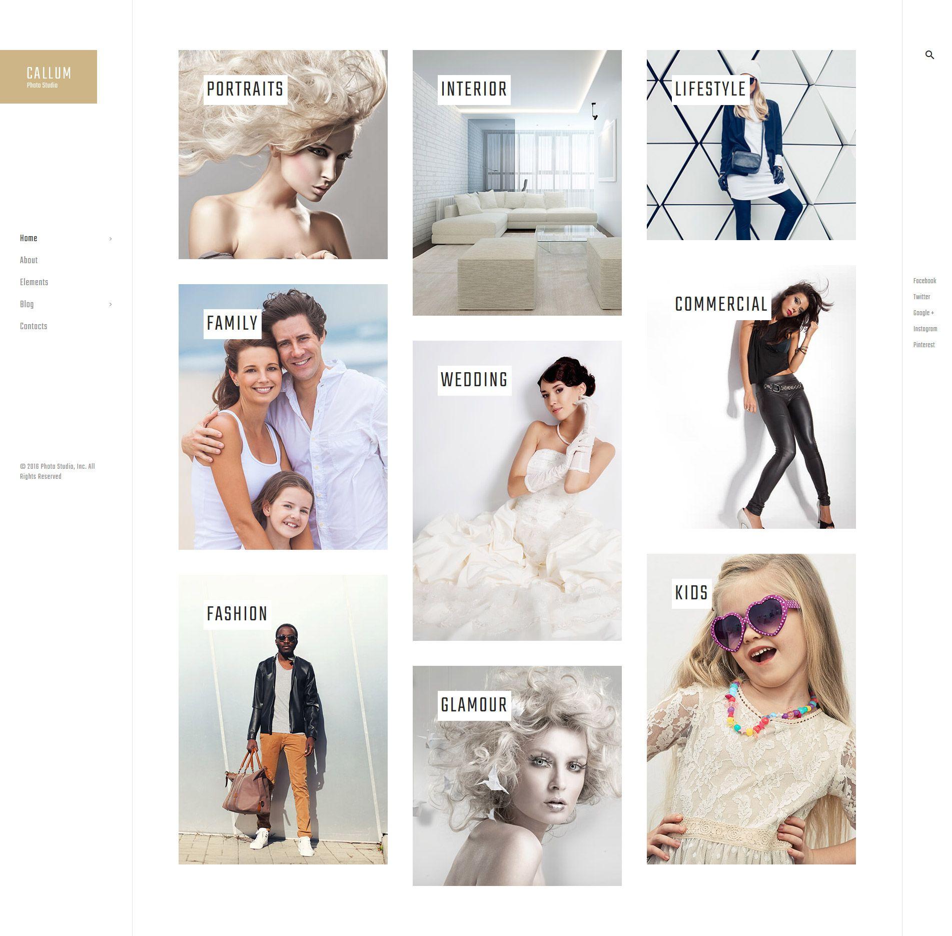 Callum - wedding photo gallery WordPress Theme | Wordpress, Online ...