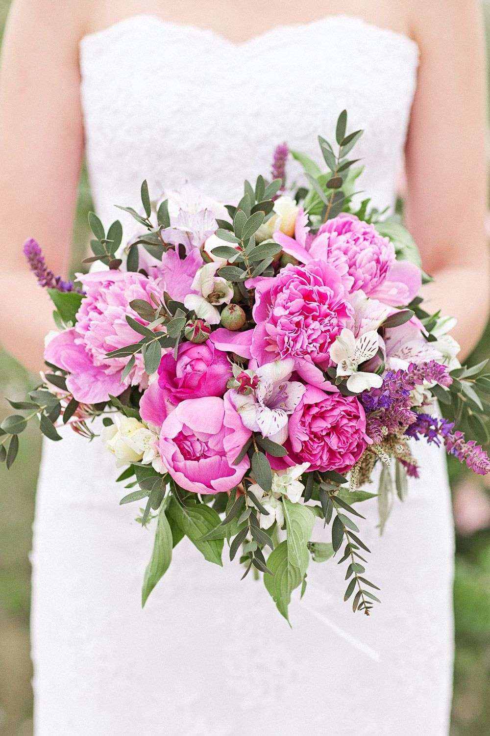 Wedding Flowers   Bouquets Wild and loose beautiful pink peony ...