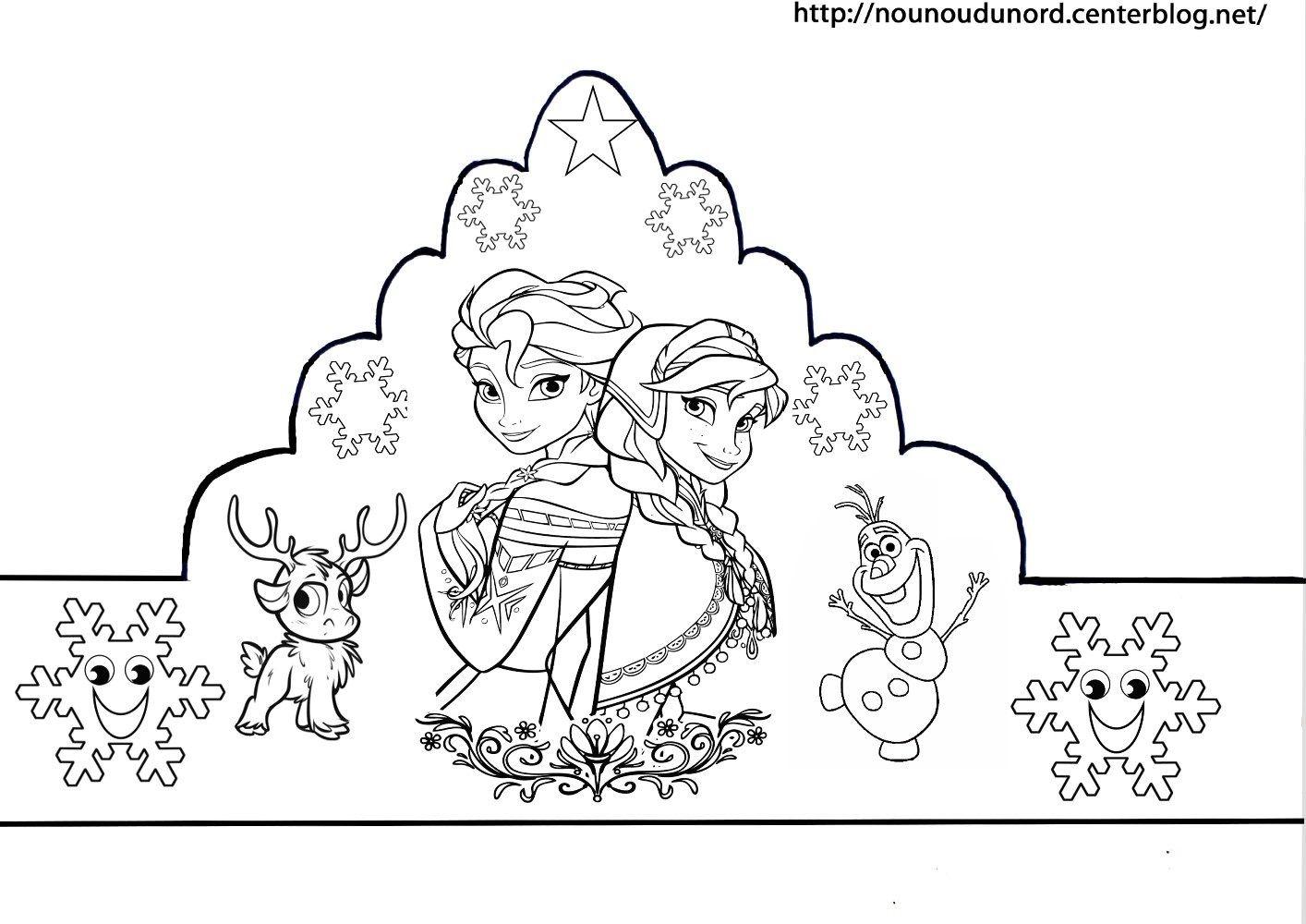 Piphanie voici mes couronnes reine des neiges cars - Couronne a colorier ...
