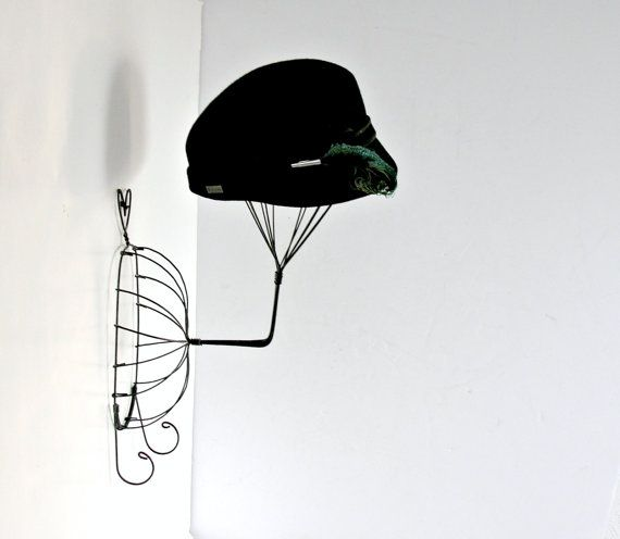 Vintage Wire Hat Stand Vintage Wall Mounted Millinery Display Head Form Metal Hat Stand Diy Hat Stand Vintage Walls