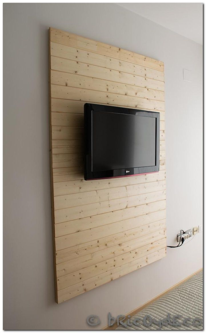 Comment Cacher Fils Tv Murale diy laminate flooring on walls and 30+ inspirations