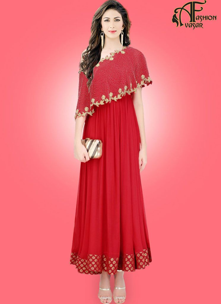 Red Gown Online Shopping