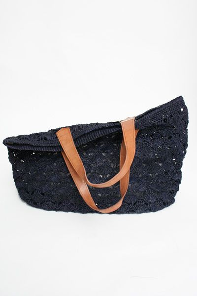African Crocheted Tote