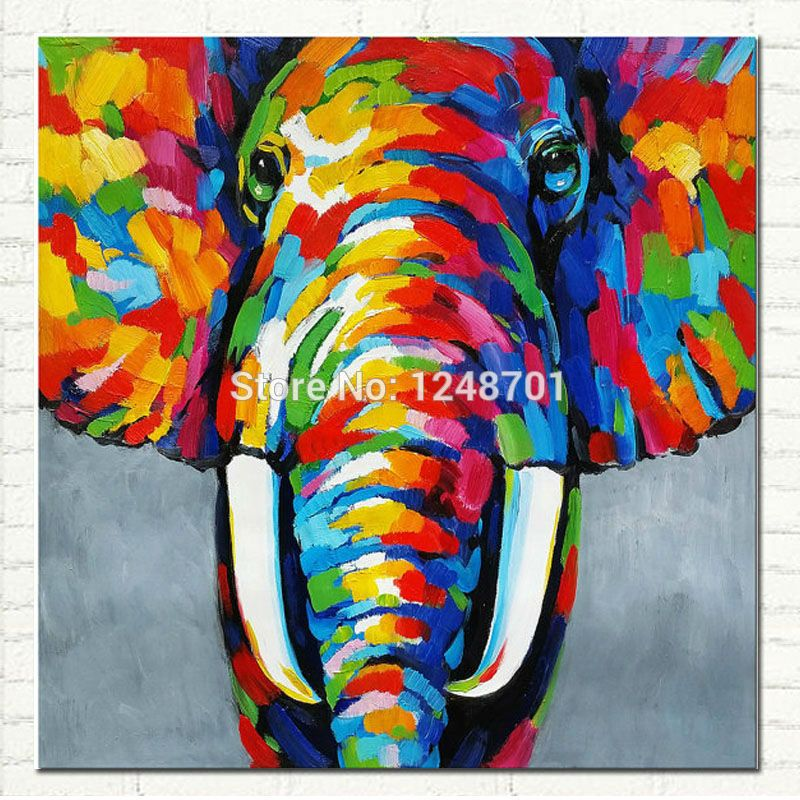 Pop Art Elephant Painting Hand Painted African Abstract Art ...