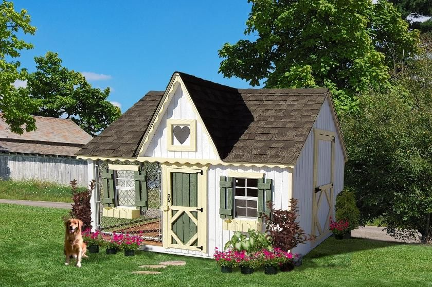 Amish Handcrafted 8 X 10 Victorian Cozy Dog Kennel Do You Own