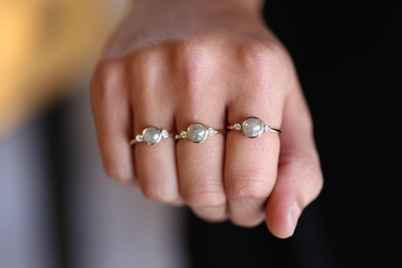 Rough Diamond Engagement Ring, Sarah O. Signature Design | Diamond ...