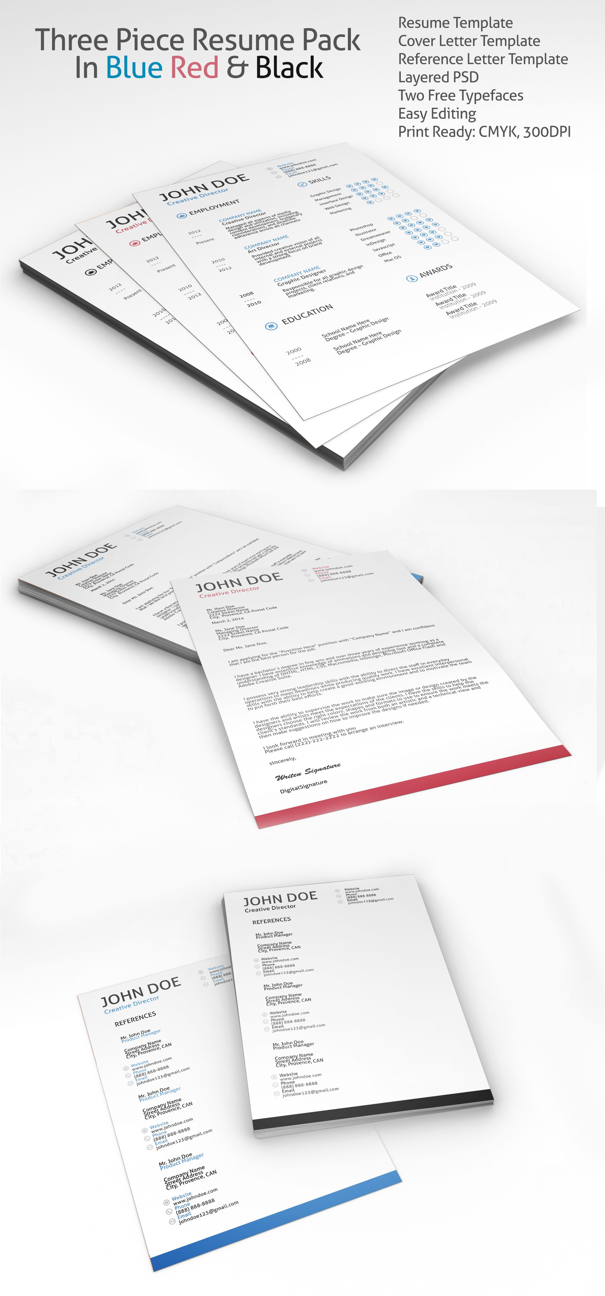 Resume, Cover Letter & Reference Template   Reference ...