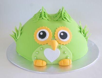 Cake Central Favorite CakesFondant Owl Cake Topper Owl Cake