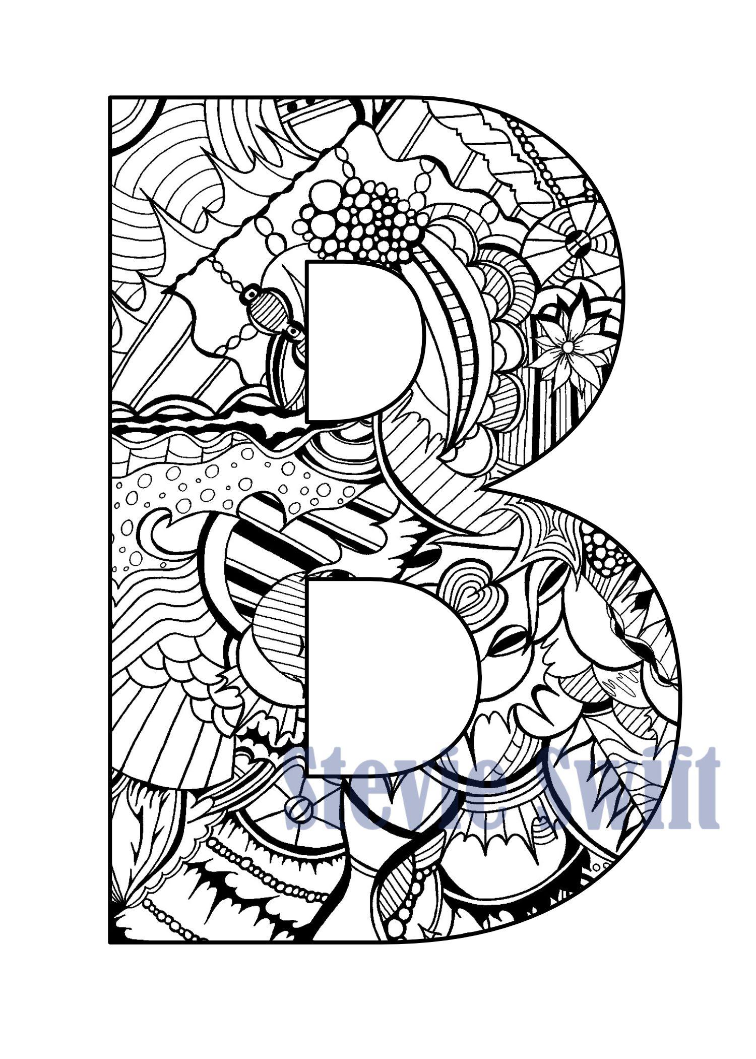 Colorable doodles letters coloring pinterest doodle colorable doodles letters thecheapjerseys Images