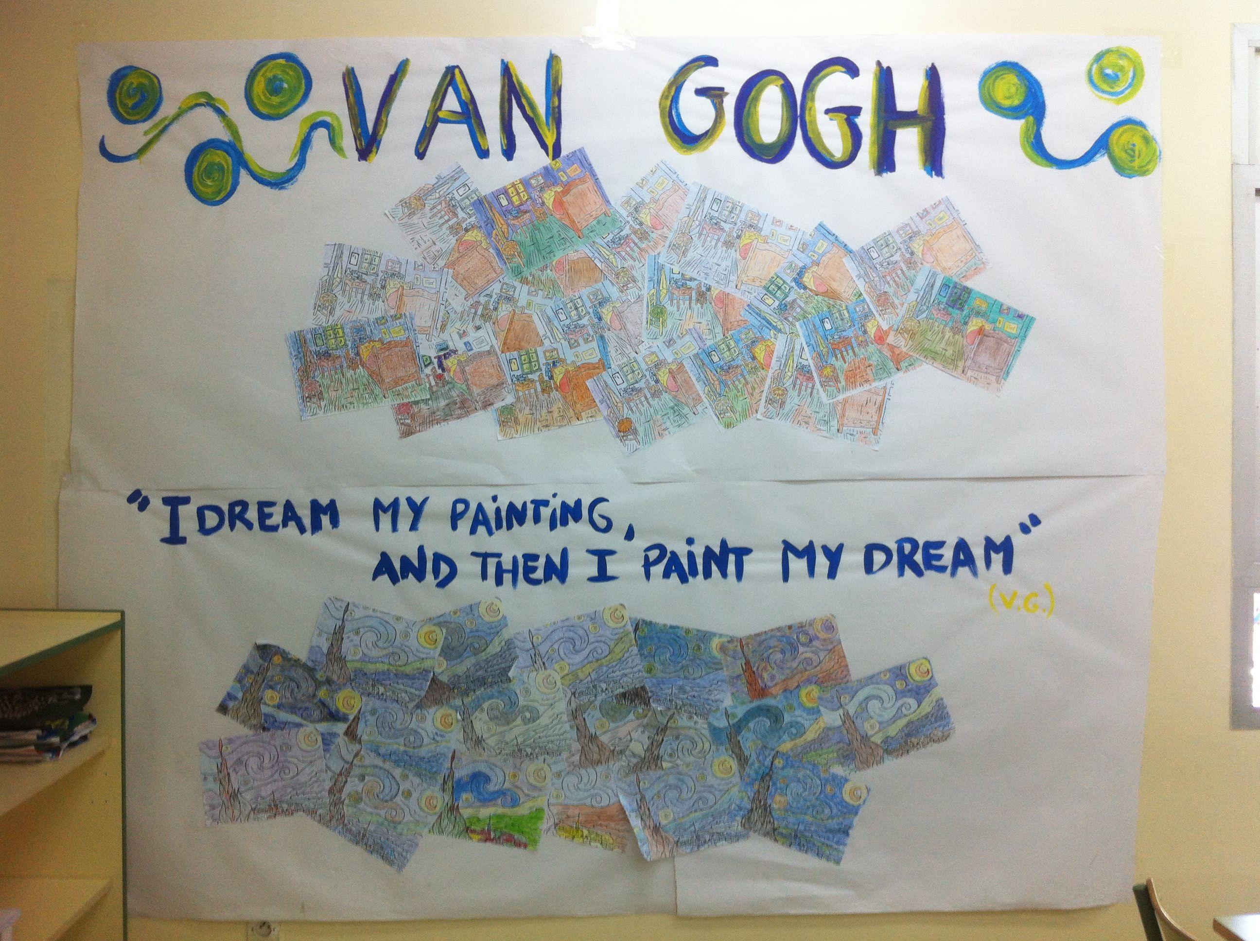 """Van Gogh --  Trabajos realizados por la clase de 6ºC del colegio español en Casablanca  """"Juan Ramón Jiménez"""""""