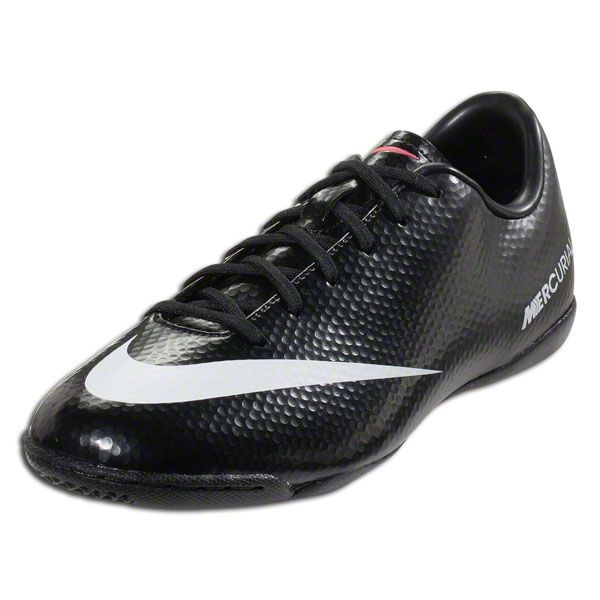 cheaper 06e60 bd3cb Nike Mercurial Victory IV IC Junior - Black White Dark Charcoal Atomic Red  Indoor Soccer Shoes