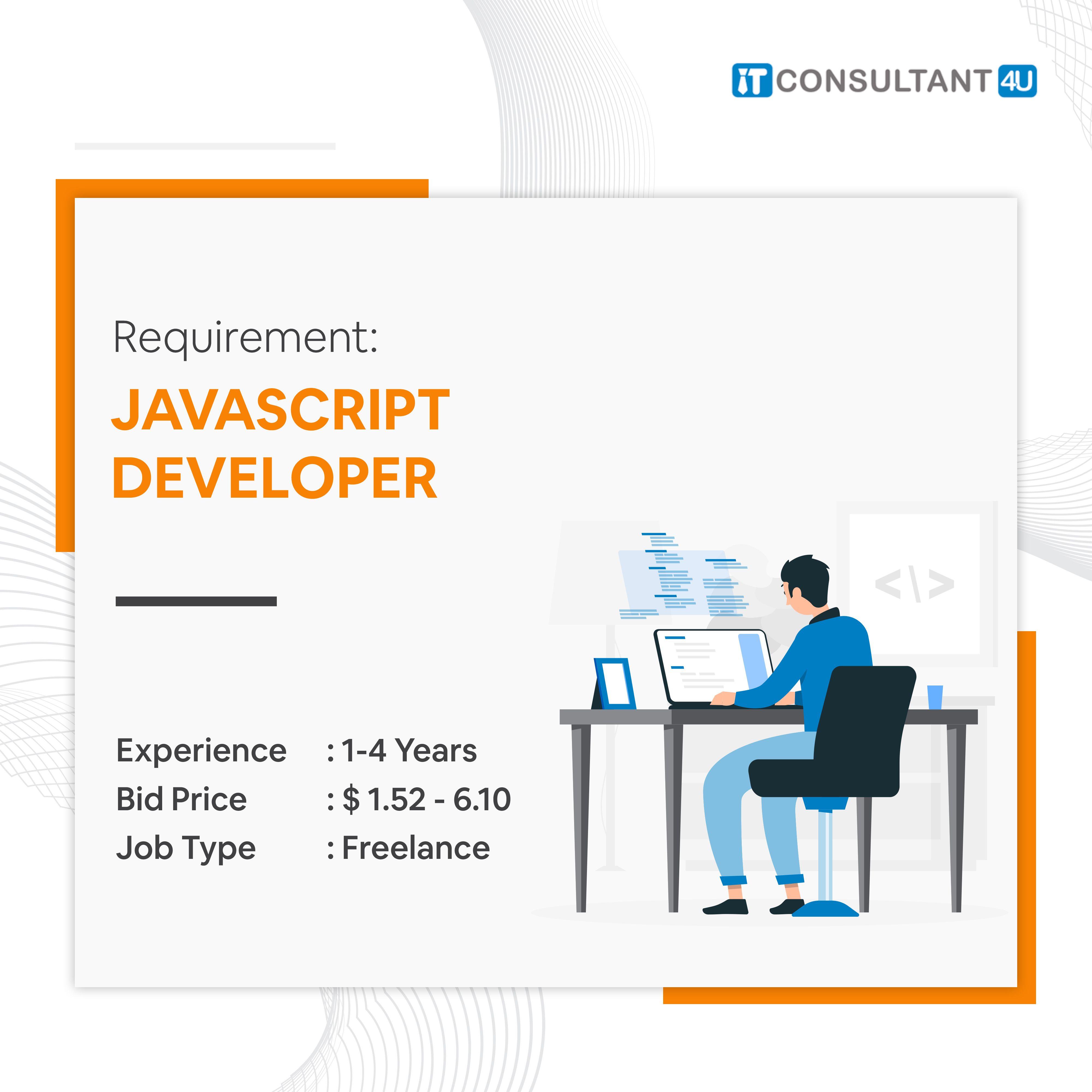 Javascriptdeveloper Itconsultant4u Workfromhome Remotework Freelancing Jobs Remote Work Job